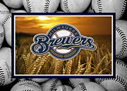 Baseball Bat Posters - Milwaukee Brewers Poster by Joe Hamilton