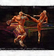 Fighters Digital Art - Mixed Martial Arts by Joseph Ventura