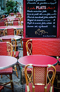 Tables Posters - Montmartre Cafe Poster by Brian Jannsen
