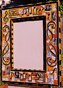 Mirror Ceramics - Mosaic Music Mirror Frame by Charles Lucas