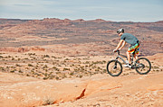 Slickrock Posters - Mountain Bike Moab Poster by Mark Weber
