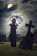 Umbrella Posters - Mourning Poster by Joana Kruse