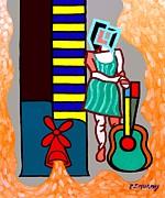 Musician Print by Patrick J Murphy