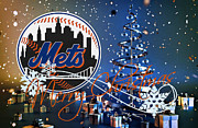 Baseball Glove Prints - New York Mets Print by Joe Hamilton