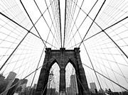 Nyc Brooklyn Bridge Print by Nina Papiorek