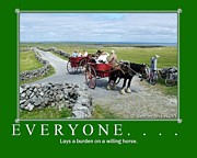 Horse And Cart Posters - Old Irish Sayings Poster by Joe Cashin