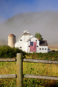 White Barn Prints - Park City Barn Print by Brian Jannsen