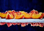 Sliced Originals - Peaches  by Kathy Flood