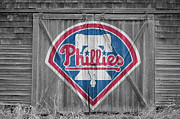 Baseball Bat Metal Prints - Philadelphia Phillies Metal Print by Joe Hamilton