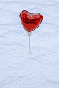 Snow Covered Photo Framed Prints - Red Balloon Framed Print by Joana Kruse