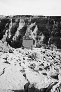 Tram Framed Prints - remains of old tramway headhouse for the mine at guano point Grand Canyon west arizona usa Framed Print by Joe Fox