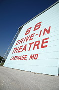 Outdoor Theater Prints - Route 66 Drive-In Theatre Print by Frank Romeo