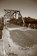 Gravel Road Prints - Route 66 - One Lane Bridge Print by Frank Romeo