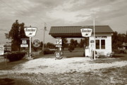 West Paris Prints - Route 66 Sinclair Station Print by Frank Romeo