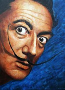 Salvador Dali  Paintings - Salvador Dali by Christian Carrette