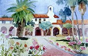 San Juan Paintings - San Juan Capistrano Mission  by Gail Sellers