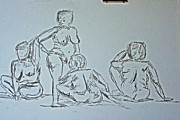 Live Drawings - Sketch Class by Julie Lueders