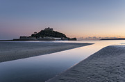 Cathedral Rock Posters - St Michaels Mount in Cornwall Poster by Helen Hotson