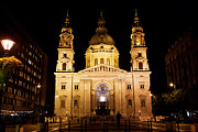 Illuminated Art - St. Stephens Basilica in Budapest by Michal Bednarek