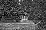 5 Star Barn Bw Print by Steve Harrington