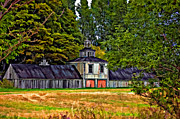 Rural Scenes Digital Art - 5 Star Barn paint filter by Steve Harrington