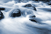 Water Flowing Framed Prints - Stream Framed Print by Les Cunliffe