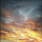 Warm Metal Prints - Sunset sky Metal Print by Les Cunliffe