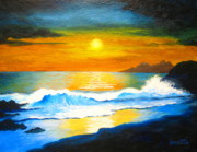 Ltd. Edition Framed Prints - SURF and SUN  Framed Print by Shasta Eone