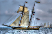 Tall Ships Prints - Tall Ships Print by Dale Powell