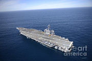 Featured Art - The Aircraft Carrier Uss Carl Vinson by Stocktrek Images