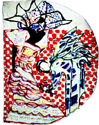 Uganda Ceramics Ceramics Posters - The Annunciation Poster by Gloria Ssali
