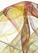 Fashion Abstraction Prints - The colorful nest Print by Odon Czintos