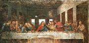 The Apostles Framed Prints - The Last Supper Framed Print by Leonardo Da Vinci
