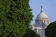 Kolkata Photos - The Victoria Memorial in Calcutta India by Robert Preston