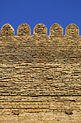 Ark Photo Prints - The walls of the Ark at Bukhara in Uzbekistan Print by Robert Preston