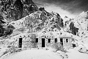 Civilian Photos - Three Historic Stone Cabins Built By The Civilian Conservation Corps In The 1930s Valley Of Fire Sta by Joe Fox