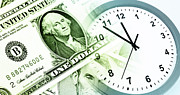 Banknote Photos - Time is money by Les Cunliffe