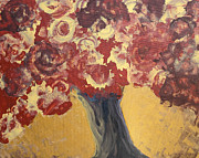 Autumn Landscape Mixed Media Posters - Tree Poster by Lyubomir Kanelov