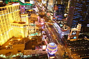 Planet Prints - View from Eiffel Tower in Las Vegas - 01131 Print by DC Photographer