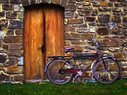 Antiquated Painting Framed Prints - Vintage  Bicycle Framed Print by Stock Fine Art