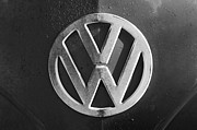 Bus Photos - Volkswagen VW Bus Front Emblem by Jill Reger