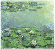 Waterlily Metal Prints - Water Lilies Metal Print by Claude Monet