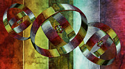 Elements Mixed Media Acrylic Prints - 5 Wind Rings Acrylic Print by Angelina Vick