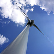 Farms Photos - Wind turbine by Bernard Jaubert