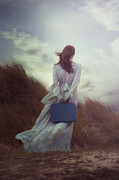 Baggage Framed Prints - Woman With Suitcase Framed Print by Joana Kruse