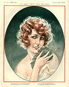 Grape Drawings Prints - 1920s France La Vie Parisienne Magazine Print by The Advertising Archives