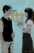 Movies Digital Art Framed Prints - 500 Days of Summer Poster Framed Print by Sanely Great