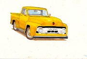 Old Truck Posters - 50s Ford truck Poster by Christopher Callen