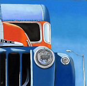 Transportation Pastels Prints - 50s Ford Truck Print by Ria Hills