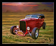Blake Richards Framed Prints - 50s Roadster Framed Print by Blake Richards